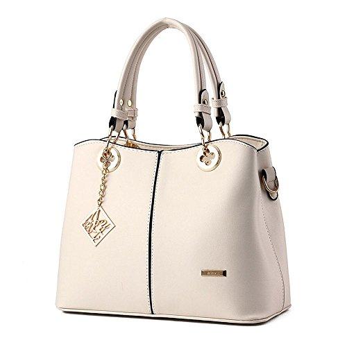 koson-man-womens-pu-leather-sling-vintage-tote-bags-top-handle-handbagwhite