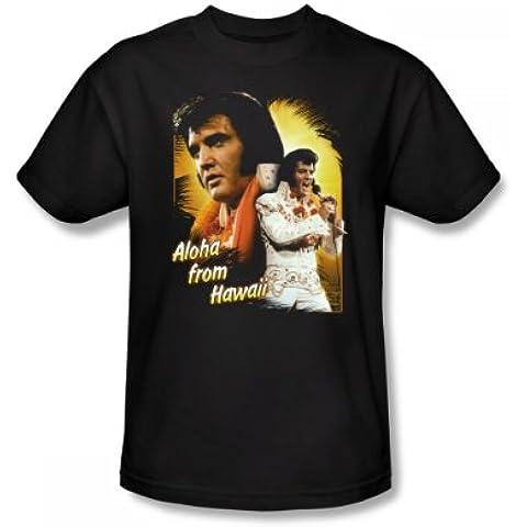 Elvis Presley, Aloha-Maglietta aderente, Adulto, colore: nero