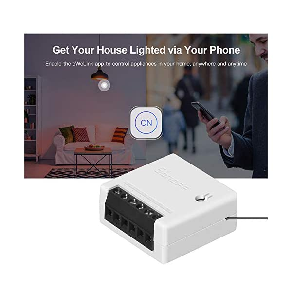 OWSOO-3PCS-Interruttore-SONOFF-MINI-Fai-da-te-Smart-Switch-Piccolo-corpo-Telecomando-Interruttore-WiFi-Supporto-Interruttore-esterno-Funziona-con-Google-HomeNest-IFTTT-e-Alexa