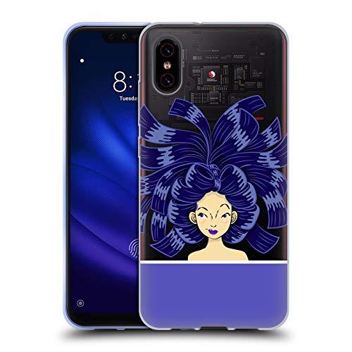 Head Case Designs Offizielle Grace Illustration Blau Haar Styles Soft Gel Huelle kompatibel mit Xiaomi Mi 8 Pro
