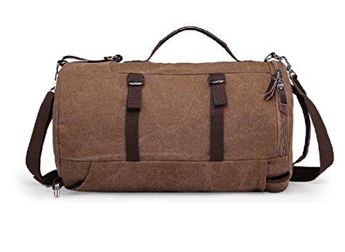 Multifunktion Kreativ Zylinder Rucksack Handtasche Messenger Bag Schultertaschen Fass Tasche Brown