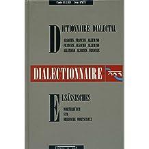 Dictionnaire dialectal Alsacien Français Allemand