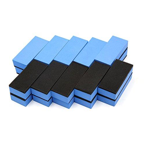 sourcingmap 20 Stück Blau Wachsen Verbindung EVA Schwamm Pads Reinigungsbürste für Auto DE de