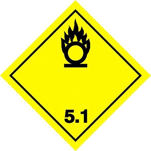 Etiqueta Adr en adhesivo 10x10cm Materias corrosivas 25 unidades. clase 8