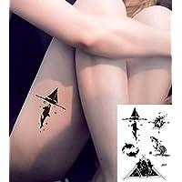 Brújula ballenas Tatuajes grafische Tatuajes Falsos Tatuajes J507