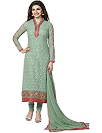 Vinay Women's Georgette Embroidered Semi-Stiched Salwar Suit (Green_Free Size)