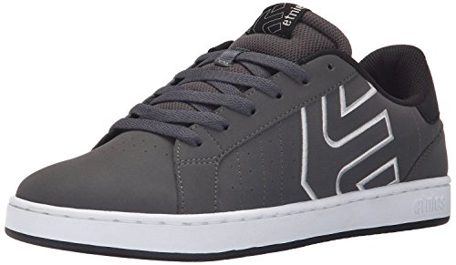 etnies Fader LS Charcoal Black Leather Mens Skate Trainers Shoes-7