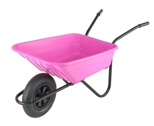 Trilanco Barrow in a Box - Grandes carretilla 90 litros, rosa