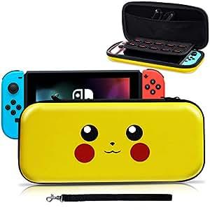 Haobuy Custodia per Nintendo Switch, [Design per Let's Go Pikachu/Eevee Pouch] [Protezione Completa] Custodia per Pokemon Switch, Borsa da Viaggio Deluxe per Nintendo Joy-con e Accessori