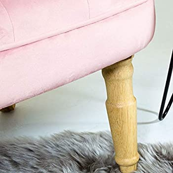 Charles Bentley Tub Chair Blush Pink - Toulouse Velvet - Occasion Elegant Styled Accent Armchair with Button Detail