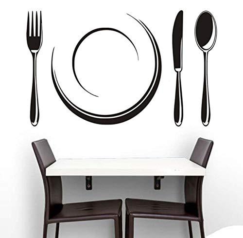 Französisch Food Tools Wandaufkleber Selbstklebende Tapete Western Restaurant Küche Aufkleber Wandaufkleber Speisesaal Wanddekor 95x58cm