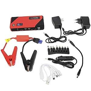 Akozon Emergency Jump Starter 12V Batería de automóvil Banco de energía Portátil Multifuncional 20000mAh para hasta 6.0L Gas/3.0L Motor diesel(EU specification)