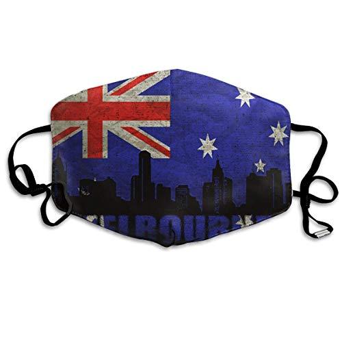 Vbnbvn Unisex Mundmaske,Wiederverwendbar Anti Staub Schutzhülle,Gesichtsmaske Melbourne Architecture Anti Pollution Washable Reusable Mouth Masks