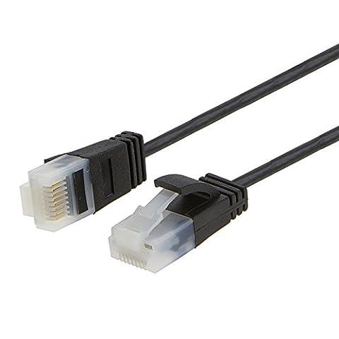 cablecreation Ultra Fin câble patch Ethernet RJ45Cat6a,–Plaqué Or Contact &,