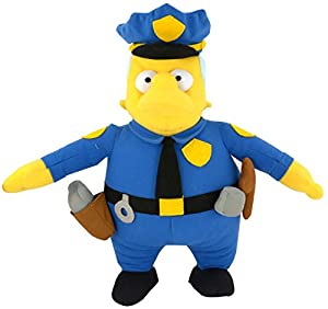 United Labels 1001399-The Simpsons-Figura de Peluche Chief Wiggum, Aprox. 31cm