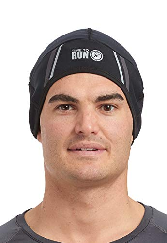 time to run Winddichter Pro Spirit Reflektierender Leichte Thermo Lauf-Mütze Beanie...