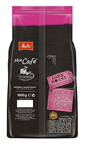 Melitta Ganze Kaffeebohnen, charaktervoll und intensiv mit Nuancen dunkler Schokolade, kräftiger Röstgrad, Stärke 4, Mein Café Dark Roast, 1000 g - 3