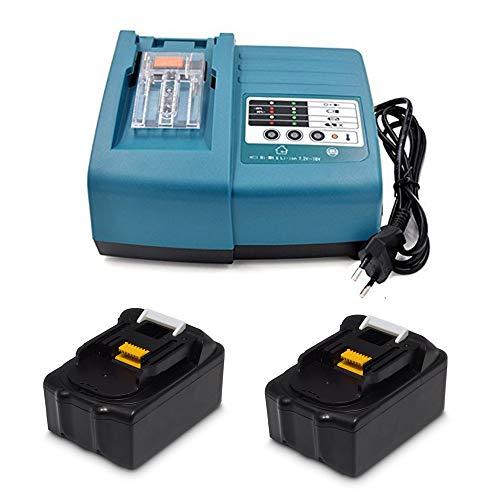 Ersatz Ladegerät mit 2X Akku 18V 3.0Ah für Makita Baustellenradio DMR110 DMR107 DMR108 DMR112...
