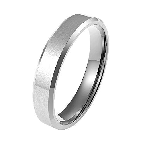 COOLMAN Edelstahl Ring Herren Ringe Hochzeit Ringe Mode Ringe 5MM mit Geschenk-Boxen