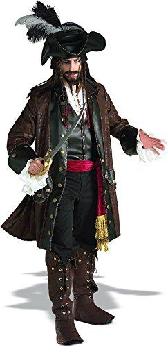 Rubie's, offizielles Karibik-Pirat-Kostüm,Erwachsene, ()