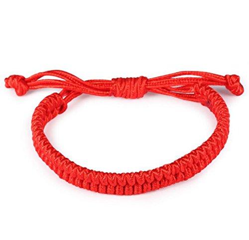 Gudeke Frauen der Männer rote Schnur Benning Tier Jahr Armband-Stulpe (Tier-stulpe-armband)