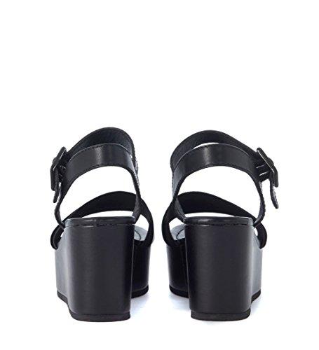 ... Sandalo Windsor Smith Joni in pelle nera Nero ...