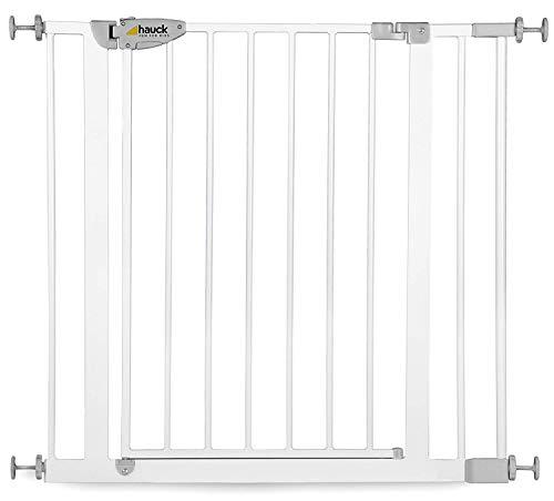 Hauck - Barrera de seguridad con cierre, 75-81 cm, color blanco weiß Talla:75-88cm + 7cm Verlängerung