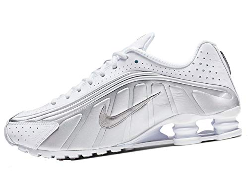 Nike Herren Shox R4 Leichtathletikschuhe, Mehrfarbig (White Metallic Silver 131), 42 EU