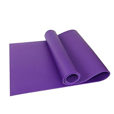 Ezyoutdoor 6mm thick Eva Foam PRINTED YOGA MAT,Eco-friendly, Nontoxic Foam Pad Construction Extra-thick and Durable Mattress Purple for Pilates Gym Manduka Yogitoes with life warranty