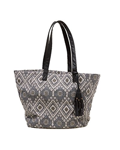 new-hollister-patterned-canvas-tote-bag-handbag-gym-travel-ladies-girls-authentic