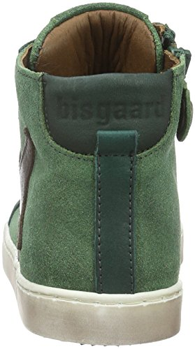Bisgaard Shoe with lace 31814216, Unisex-Kinder Hohe Sneaker Grün (1005-1 Forest)