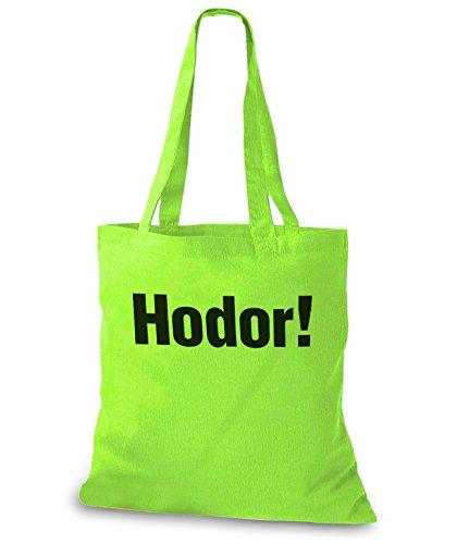 Stylobags Jutebeutel / Tasche Hodor! Lime