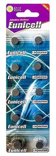 Eunicell AG5 (5 Blistercards = 50 Batterien) EINWEG Markenware