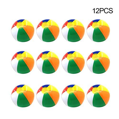 Dough.Q 30cm Aufblasbare Wasserball Bunte Outdoor Wassersport Spaß Schwimmbad Float Game Ball Wasserspielzeug Für Kinder Und Erwachsene - 12 Stücke