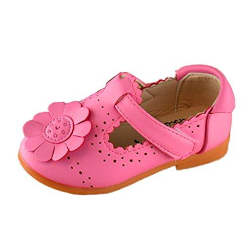 BZLine® Girls Blumen Girls Flower shoes Princess Fashion Single shoes Sandalen Hot Pink