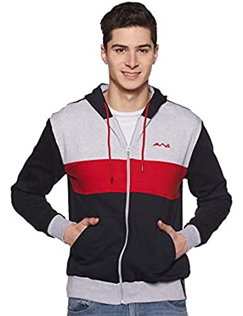 AWG - All Weather Gear Men's Sweat Shirt (AWG-SSLZ83-S_Multi Colour_Small) Charcoal