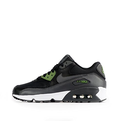 Nike Jungen Air Max 90 Mesh Gs Trainingsschuhe black-dark grey-palm green