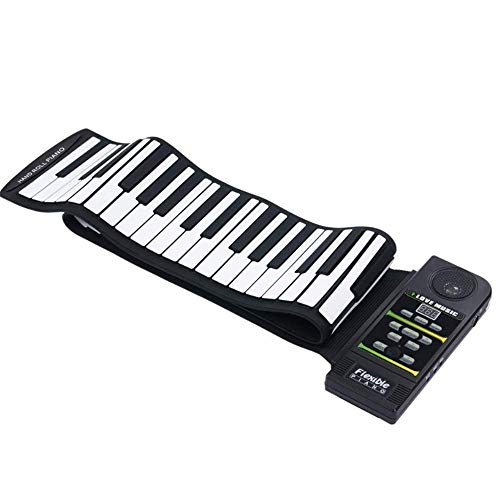 Price comparison product image WMING 88 Keys Silicone Portable Piano Flexible Foldable Piano Digital Music Instrument Roll Up Electronic Soft Keyboard Piano Suitable for children and beginners