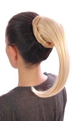 La Queue de Cheval à enrouler   Blonde Doré   Faciles à poser avec une système de clips et cordon
