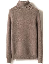 LinyXin Cashmere Damen Kaschmir Rollkragen Pullover Wolle Langarm Freizeit  Winter Warm Pulli Sweater 542ed3c0b3
