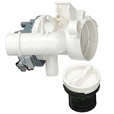 SPARES2GO Complete Drain Pump + Filter Housing Unit for Candy Washing Machine from SPARES2GO