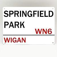 Inga Wigan Athletic FC - Placa de Metal con Texto en inglés Football y Springfield Park (20 x 30 cm)