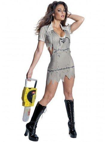 Rubie's Kostüm Miss Leatherface Massaker an der Kettensäge Gr. XS, Mehrfarbig (Kettensägen Massaker Kostüm)