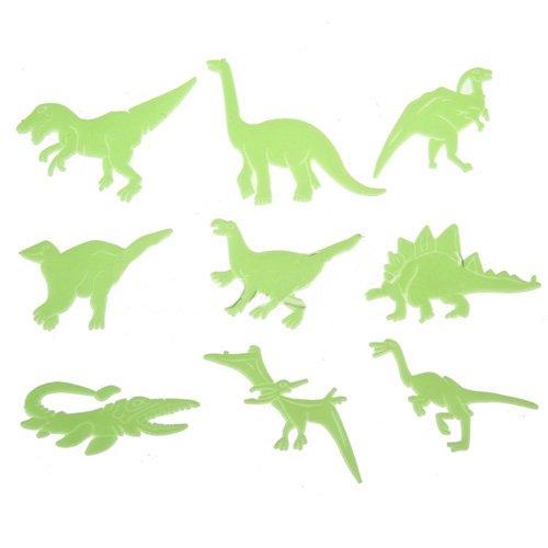 SODIAL(R) Diversion Resplandor en la oscuridad Set de 9 Techos Forma Paredes dinosaurios de plastico Pegatinas