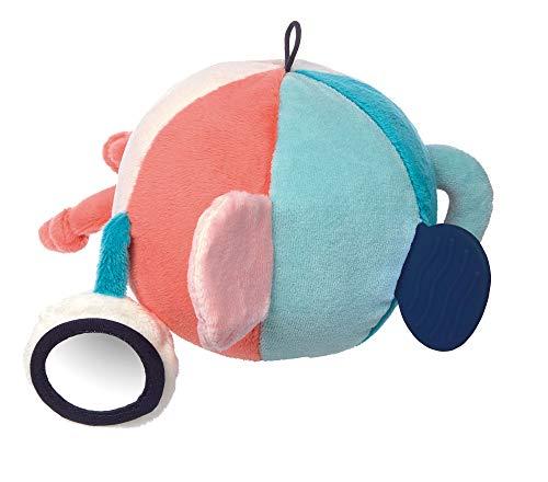 sigikid, Jungen und Mädchen, Ball mit Rassel, Blue Collection, Türkis/Orange, 41870
