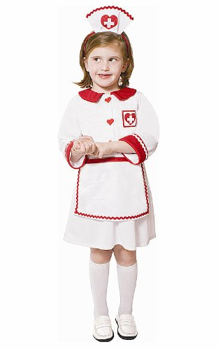 Krankenschwester Rot Kreuz Kostüm - Dress Up America Süßes Kinder Mädchen Rotes Kreuz Krankenschwester Kostüm