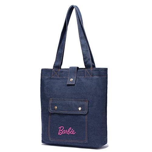 Barbie Bolso totes en dibujo de estrellas con remaches y perlas para Mujer BBFB630 29x8x33CM (azul ligero)