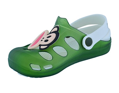 Lil Firestar Unisex Kids Eva Sandals Crocs Clogs _Green_9CUK/28EU  available at amazon for Rs.419