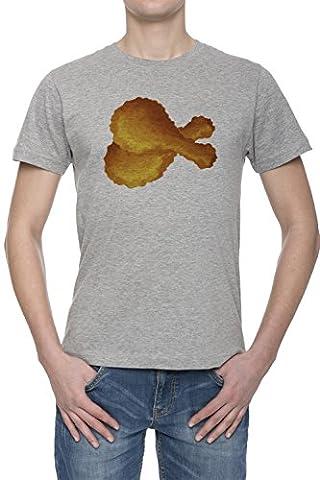 Poulet Frit Homme Gris T-shirt Toutes Les Tailles | Men's
