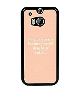 PrintDhaba Quote D-4448 Back Case Cover for HTC ONE M8s (Multi-Coloured)